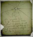 Pane of glass, inscribed with a poem attributed to Robert Burns