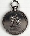 Silver medal (obverse) of Orange Lodge No. 1657