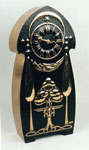 Mantle clock of brass and enamel