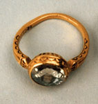 Gold ring with a miniature of Charles I