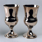 Silver communion cups