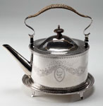 Silver kettle and stand made in Perth