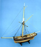 Model, of sailing vessel Comet of Leith