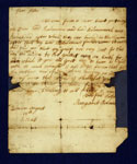 Letter, associated with Lord Balmerino