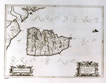 Map, of Isle of Arran, Firth of Clyde