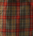 Cloak (detail), of Buchanan tartan