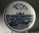 Plate, commemorating Glasgow International Exhibition, 1901