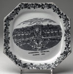 Plate commemorating the Glasgow International Exhibition, 1888