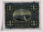 Banknote (back), One pound, issued by National Bank of Scotland