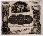 Banknote, One pound (specimen) of Dundee Union Bank
