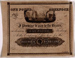 Banknote (proof), of Greenock Bank Company