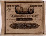 Banknote (proof), of Greenock Bank Company