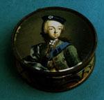 Jewel box, with portrait of Prince Charles Edward Stewart