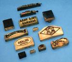 Printing blocks, used at Huntingtower Bleachworks, Almondbank, Perthshire