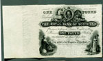 Banknote, One pound (unissued), Royal Bank of Scotland