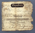 Banknote, One guinea, issued by Dumfries Commercial Bank