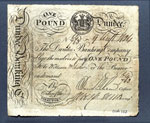 Banknote (front), One pound, issued by Dundee Banking Company