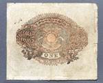 Banknote (back), One pound, issued by Dundee Banking Company
