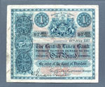 Banknote (front), One pound, issued by British Linen Bank