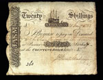 Banknote, Twenty shillings, issued by J Stewart Mackenzie, Stornoway, Lewis, Outer Hebrides