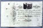 Banknote, One pound (unissued) by Sir William Forbes, James Hunter & Company