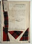 Letter & tartan samples, associated with William Wilson & Sons, Bannockburn, near Stirling
