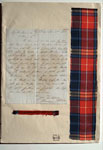 Letter & tartan samples, associated with William Wilson & Sons, Bannockburn, near Stirling