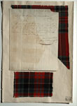 Letter & tartan sample, associated with William Wilson & Sons, Bannockburn, near Stirling