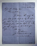 Letter (first page), to William Wilson & Sons, Bannockburn, near Stirling