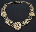 Necklace, with seed pearls possibly of Scottish origin