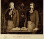 Engraving, Twa Brother Scots, associated with Sir Walter Scott & Robert Burns