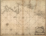 Chart, of east coast of Scotland, with Isles of Orkney & Shetland