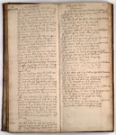 Manuscript notebook, medical case notes for the practice of Andrew St. Clair