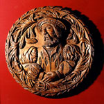 Ceiling medallion, depicting James V