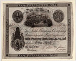 Banknote, One guinea, issued by Leith Banking Company
