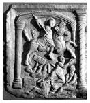 Carved slab (detail)
