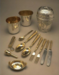 Travelling canteen set, owned by Prince Charles Edward Stewart