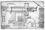 1828 plan of St Andrews Cathedral Church and Cloister, St Andrews, Fife