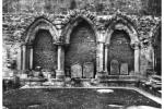 Entrance (from inside) of original chapter house of St Andrews Cathedral Church, St Andrews, Fife