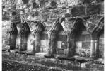 Arcaded seating of later chapter house of St Andrews Cathedral Church, St Andrews, Fife