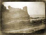 Cardinal Beaton's Castle, St Andrews, looking past it out to sea