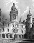 Heriot's Hospital - The Court Yard and Towers