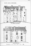Elcho Castle, Perthshire - North and South Elevations
