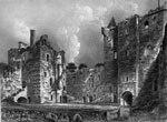 Doune Castle, Perth - Courtyard and Entrance Tower