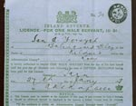Licence to keep a male servant