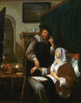 'A Sick Woman and her Doctor' by Frans van Mieris I, 1657