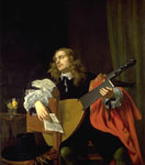 'A Man with an Arch-lute' Attributed to Isaac Luttichuijs