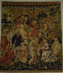 Belgian Tapestry Depicting The Camp of the Gypsies, c. 1510