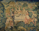 Belgian Tapestry Depicting a Banquet in the Open Air, c. 1510