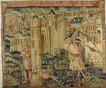 Belgian Tapestry Depicting Hercules at the Gate of Prycus's City, Early 16th Century